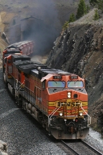 BNSF 5103 (Dash 9) exits Bozeman Tunnel